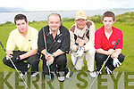 FOUR: Dooks Golfers who took part in the Kerry Deaf Resource Centre Gold Classic in Dooks Golf Club on Friday last..L/r. Diarmuid Murphy, Clare Lyons, Eddie Cogan and Jackie Cogan.GREEN TIME: Dooks Golfers who took part in the Kerry Deaf Resource Centre Gold Classic in Dooks Golf Club on Friday last..L/r. Niall O'Connor, Michael O'Sullivan, Jim O'Sullivan and Mike O'Sullivan.   Copyright Kerry's Eye 2008
