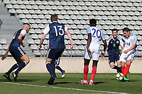 Elliott Embleton scores England's second goal during England Under-18 vs Scotland Under-20, Toulon Tournament Semi-Final Football at Stade Parsemain on 8th June 2017