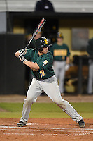 Siena Saints catcher Dan Vasquez (19) at bat during the opening game of the season against the UCF Knights on February 13, 2015 at Jay Bergman Field in Orlando, Florida.  UCF defeated Siena 4-1.  (Mike Janes/Four Seam Images)