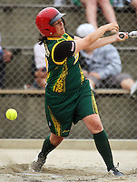 Hutt Valley's Cindy Potae during round two of the National Women's Softball Championships at Hataitai Park, Wellington, NewZealand on Sunday 2 February 2009. Photo: Dave Lintott / lintottphoto.co.nz