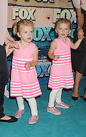WEST HOLLYWOOD, CA - JULY 23: Riley Cregut and Bailey Cregut arrive at the FOX All-Star Party on July 23, 2012 in West Hollywood, California. / NortePhoto.com<br />