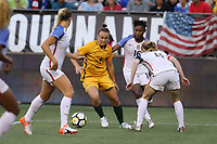 Seattle, WA - Thursday July 27, 2017: Caitlin Foord during a 2017 Tournament of Nations match between the women's national teams of the United States (USA) and Australia (AUS) at CenturyLink Field.