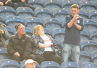 Preston North End fans enjoy the pre-match atmosphere <br /> <br /> Photographer Kevin Barnes/CameraSport<br /> <br /> The EFL Sky Bet Championship - Preston North End v Sheffield United - Saturday 6th April 2019 - Deepdale Stadium - Preston<br /> <br /> World Copyright © 2019 CameraSport. All rights reserved. 43 Linden Ave. Countesthorpe. Leicester. England. LE8 5PG - Tel: +44 (0) 116 277 4147 - admin@camerasport.com - www.camerasport.com