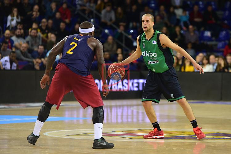League ACB-ENDESA 2016/2017 - Game: 13.<br /> FC Barcelona Lassa vs Divina seguros Joventut: 79-77.<br /> Tyressen Rice vs Albert Sabat.