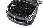 Car Stock 2018 KIA Sportage EX 5 Door SUV Engine  high angle detail view