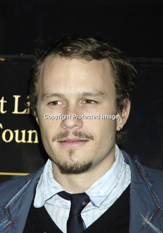 """Heath Ledger ..at a Special Screening of """" Casanova"""" on December 11, 2005 at The Loews Lincoln Square Theatre. ..Photo by Robin Platzer, Twin Images"""