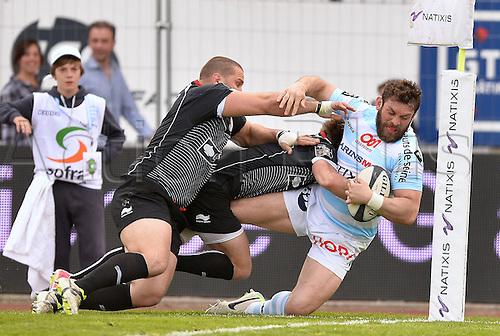 12.04.2014. Paris, France. Top 14 Rugby Union. Racing Metro versus Biarritz.  Virgile Lacombe (rm)