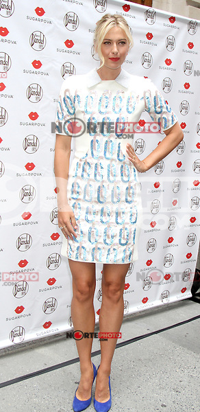 NEW YORK,NY - August 20, 2012: Maria Sharapova attends the Sugarpova Launch at Henri Bendel in New York City. &copy; RW/MediaPunch Inc. /NortePhoto.com<br /> <br /> **SOLO*VENTA*EN*MEXICO**<br /> **CREDITO*OBLIGATORIO**<br /> *No*Venta*A*Terceros*<br /> *No*Sale*So*third*<br /> *** No Se Permite Hacer Archivo**<br /> *No*Sale*So*third*