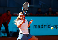 Dominika Cibulkova of Slovakia in her match against   Naomi Osaka of Japan during day three of the Mutua Madrid Open at La Caja Magica on May 05, 2019 in Madrid, Spain. /NortePhoto.com