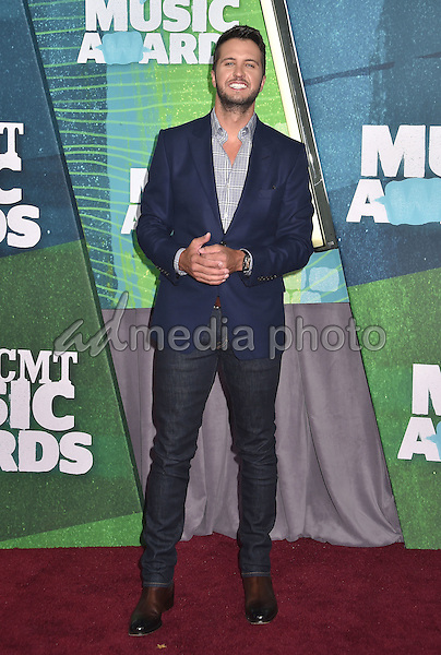 10 June 2015 - Nashville, Tennessee - Luke Bryan. 2015 CMT Music Awards held at Bridgestone Arena. Photo Credit: Laura Farr/AdMedia