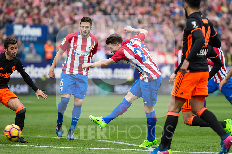 Kevin Gameiro of Atletico de Madrid  during the match of Spanish La Liga between Atletico de Madrid and Valencia CF at  Vicente Calderon Stadium in Madrid, Spain. March 05, 2017. (ALTERPHOTOS / Rodrigo Jimenez)