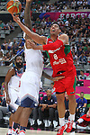 06.09.2014. Barcelona, Spain. 2014 FIBA Basketball World Cup, round of 16. Picture show G. Ayon and D. Cousins   in action during game between  Mexico v Usa  at Palau St. Jordi