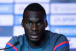 Crystal Palace forward Christian Benteke talks during a Premier League Asia Trophy Press Conference at Grand Hyatt Hotel on July 21, 2017 in Hong Kong, China. Photo by Marcio Rodrigo Machado / Power Sport Images