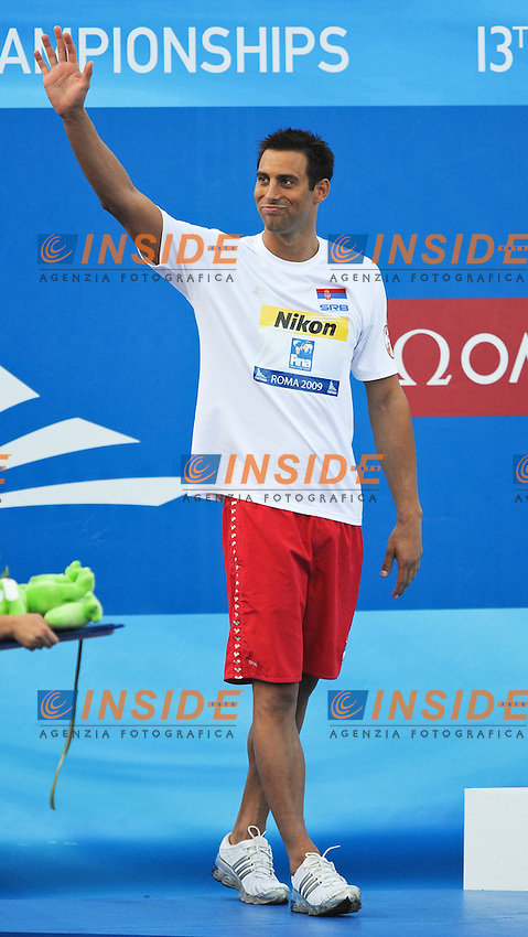 Roma 1st August 2009 - 13th Fina World Championships .From 17th to 2nd August 2009.Men's 100m Butterfly.Milorad CAVIC (SRB) Silver Medal.Roma2009.com/InsideFoto/SeaSee.com . .Foto Andrea Staccioli Insidefoto