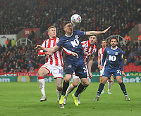 Blackburn Rovers Darragh Lenihan in action with Stoke City's James McClean<br /> <br /> Photographer Mick Walker/CameraSport<br /> <br /> The EFL Sky Bet Championship - Stoke City v Blackburn Rovers - Saturday 30th November 2019 - bet365 Stadium - Stoke-on-Trent<br /> <br /> World Copyright © 2019 CameraSport. All rights reserved. 43 Linden Ave. Countesthorpe. Leicester. England. LE8 5PG - Tel: +44 (0) 116 277 4147 - admin@camerasport.com - www.camerasport.com