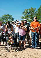 Fans and supporters at the U.S. Open Bowfishing Championship, Saturday, May 3, 2014. <br /> <br /> Photo by Matt Nager