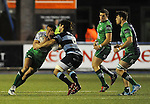 Connacht's Mils Muliaina is tackled by Cardiff Blues' Josh Navidi<br /> Guiness Pro12<br /> Cardiff Blue v Connacht<br /> BT Sport Cardiff Arms Park<br /> 06.03.15<br /> &copy;Ian Cook -SPORTINGWALES