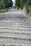 Pilgrim Steps of Calvari in Pollenca, Majorca, Spain