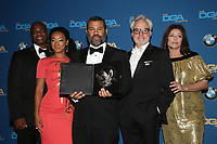 BEVERLY HILLS, CA - FEBRUARY 3: Marcus Henderson and Betty Gabriel, Jordan Peele, Bradley Whitford and Catherine Keener  in the press room at the 70th Annual Directors Guild of America Awards (DGA, DGAs),  at The Beverly Hilton Hotel in Beverly Hills, California on February 3, 2018.  <br /> CAP/MPI/FS<br /> &copy;FS/Capital Pictures