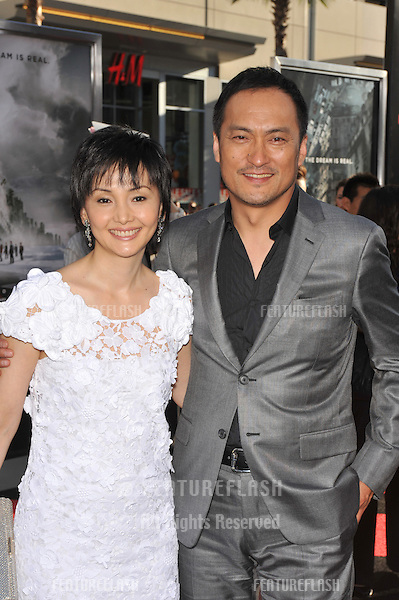 "Ken Watanabe & wife Kaho Minami at the Los Angeles premiere of his new movie ""Inception"" at Grauman's Chinese Theatre, Hollywood..July 13, 2010  Los Angeles, CA.Picture: Paul Smith / Featureflash"