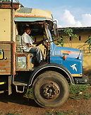 SRI LANKA, Asia, portrait of a driver sitting in truck