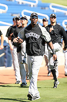 Dexter Fowler, Colorado Rockies 2010 spring training, before a game against the Milwaukee Brewers at Maryvale Stadium, Phoenix, AZ - 03/14/2010..Photo by:  Bill Mitchell/Four Seam Images.