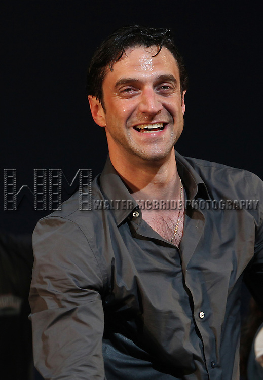 Raul Esparza.during the Broadway Opening Night Curtain Call for the 'Leap Of Faith' at the St. James Theatre on 4/26/2012 in New York City.