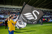 SWANSEA, WALES - APRIL 04: guard of honour prior to the Premier League match between Swansea City and Hull City at Liberty Stadium on April 04, 2015 in Swansea, Wales.  (photo by Athena Pictures)