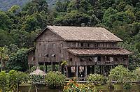 Asie/Malaisie/Bornéo/Sarawak/Kampung Budaya: Maison du village