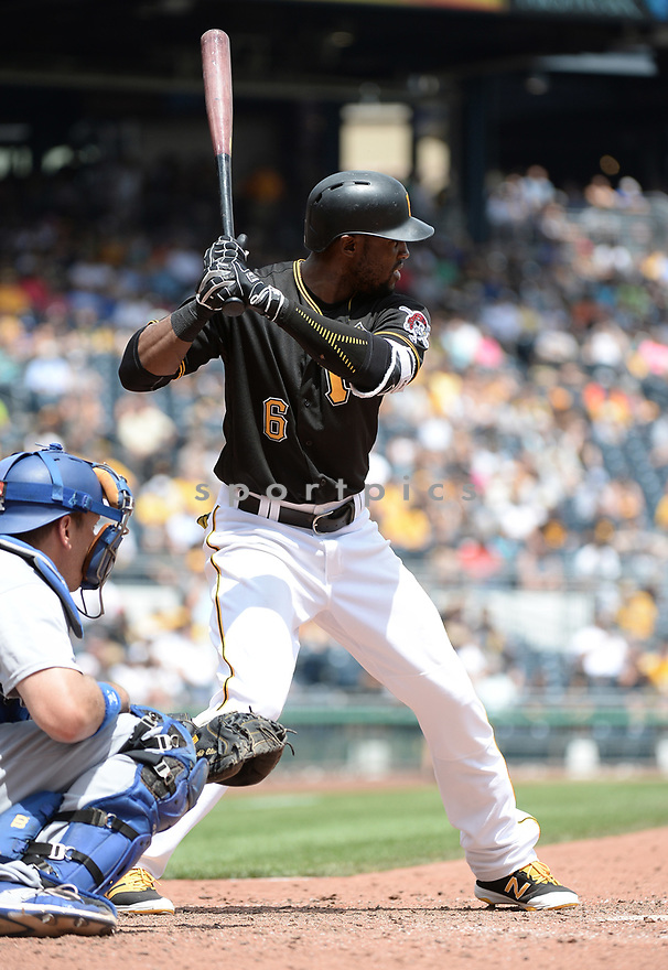 Pittsburgh Pirates Starling Marte (6) during a game against the Los Angeles Dodgers on June 27, 2016 at PNC Park in Pittsburgh, PA. The Dodgers beat the Pirates 4-3.