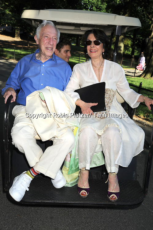 "Bernard Gersten and wife attending the Public Theatre's Annual  Gala on June 21, 2010  at the opening of ""The Merchant of Venice"" at the Delacorte Theatre in Central Park in New York City."