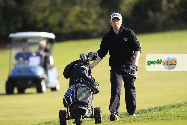 Cathal Butler (Kinsale) on the 3rd during Round 1 of the Munster Stroke Play Championship at Cork Golf Club on Saturday 30th April 2016.<br /> Picture:  Thos Caffrey / www.golffile.ie