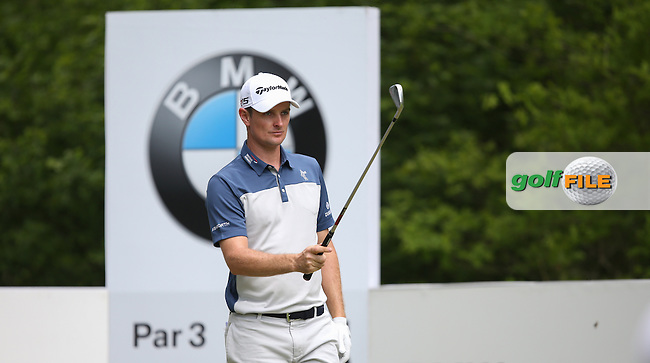 Justin Rose (ENG) in action during Round Three of the 2015 BMW PGA Championship over the West Course at Wentworth, Virginia Water, London. 23/05/2015. Picture David Lloyd | www.golffile.ie.