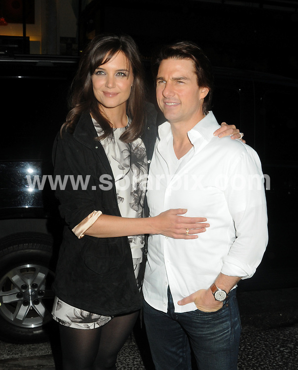 **ALL ROUND PICTURES FROM SOLARPIX.COM**.**SYNDICATION RIGHTS FOR UK, AUSTRALIA, DENMARK, PORTUGAL, S. AFRICA, SPAIN & DUBAI (U.A.E) & ASIA (EXCLUDING JAPAN) ONLY**.Katie Holmes and Tom Cruise arrive for - The Romantics - New York City premiere held at the AMC Loews 19th Street, New York City, NY, USA. 7 September 2010..This pic: Katie Holmes and Tom Cruise..JOB REF: 12055 PHZ  Mayer  DATE: 07_09_2010.**MUST CREDIT SOLARPIX.COM OR DOUBLE FEE WILL BE CHARGED**.**MUST NOTIFY SOLARPIX OF ONLINE USAGE**.**CALL US ON: +34 952 811 768 or LOW RATE FROM UK 0844 617 7637**