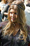 """WESTWOOD, CA. - October 26: Singer Fergie arrives at the premiere of Dreamworks' """"Madagascar: Escape 2 Africa"""" at the Mann Village Theater on October 26, 2008 in Los Angeles, California."""