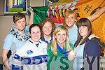 Siobhain Fleming received a huge welcome back to Kerry airport with her Six Nations medal on Monday night from her Tralee Rugby colleagues Sarah Hayes, Elaine Drumm, Sophie Brosnan, Siobhain Barrett and Leanne McCarthy