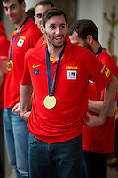 The reception of Prime Minister Mariano Rajoy to Spain national basketball team gold at EuroBasket 2015 at Moncloa Palace in Madrid, 21 September, 2015.<br /> Rudy Fernandez.<br /> (ALTERPHOTOS/BorjaB.Hojas) /NortePhoto.com