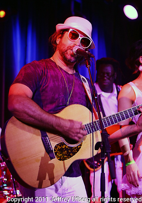 November 3, 2011 New York: Singer / Musician Brother Joscephus of Brother Joscephus and the Love Revival Revolution performs Hiro Ballroom on November 3, 2011 in New York