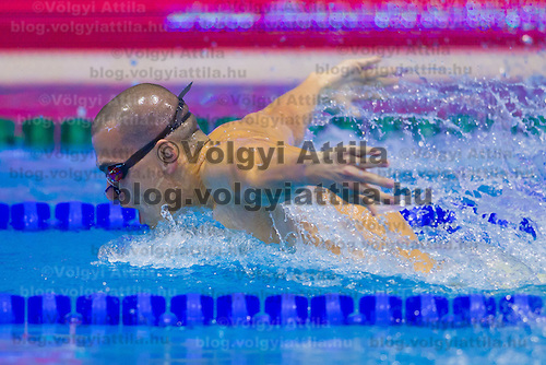 Laszlo Cseh of Hungary competes in the Men's 200m Butterfly of the 31th European Swimming Championships in Debrecen, Hungary on May 23, 2012. ATTILA VOLGYI