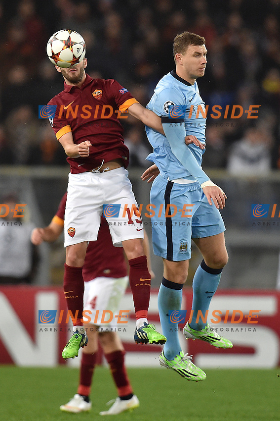 Miralem Pjanic Roma, Edin Dzeko Manchester <br /> Roma 10-12-2014 Stadio Olimpico, Football Champions League Group Stage Group E . AS Roma - Manchester City. Foto Andrea Staccioli / Insidefoto