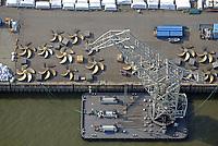 Schiffspropeller zur Verladung am Hachmannkai: EUROPA, DEUTSCHLAND, HAMBURG 23.09.2017  Schiffspropeller zur Verladung am Hachmannkai