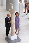 7/10/2009 Athens Greece. Queen Sofia of Spain visits the New Acropolis museum.  Credit Aristidis Vafeiadakis/ZUMA Press
