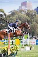 AUS-Emily Anker (GLENWOOD PARK COOPER STREET) FINAL-16TH: CCI2* SHOWJUMPING: 2014 AUS-Australia's International 3 Day Event (Sunday 16 November) CREDIT: Libby Law COPYRIGHT: LIBBY LAW PHOTOGRAPHY