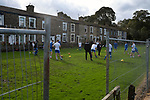Nelson 3 Daisy Hill 6, 12/10/2019. Victoria Park, North West Counties League, First Division North. Home team players go through their pre-match warm-up before Nelson hosted Daisy Hill at Victoria Park. Founded in 1881, the home club were members of the Football League from 1921-31 and has played at their current ground, known as Little Wembley, since 1971. The visitors won this fixture 6-3, watched by an attendance of 78. Photo by Colin McPherson.