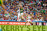 Tommy Walsh, Kerry in action against Fionn Dowling, Kildare in the All Ireland Quarter Final at Croke Park on Sunday.