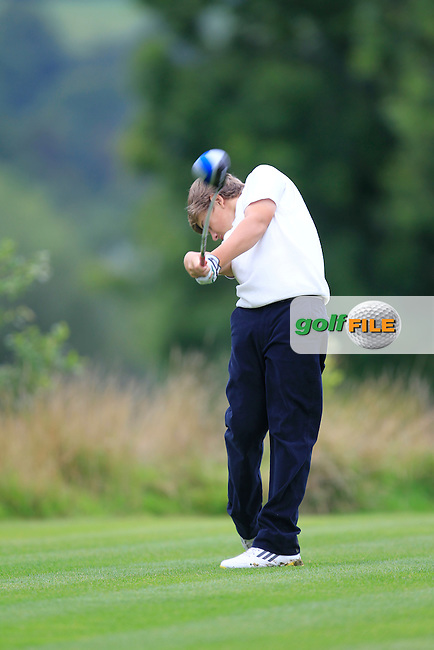 Jack Madden (Ulster) on the 10th tee during the Boys Under 15 Interprovincial Championship Morning Round at the West Waterford Golf Club on Wednesday 22nd August 2013 <br /> Picture:  Thos Caffrey/ www.golffile.ie