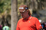 Tournament host Miguel Angel Jimenez (ESP) on the practice green before Day 1 Thursday of the Open de Andalucia de Golf at Parador Golf Club Malaga 24th March 2011. (Photo Eoin Clarke/Golffile 2011)