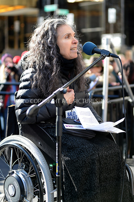 www.acepixs.com<br /> January 20, 2018  New York City<br /> <br /> Nadina LaSpina on stage at the Women's March on January 20, 2018 in New York City.<br /> <br /> Credit: Kristin Callahan/ACE Pictures<br /> <br /> Tel: 646 769 0430<br /> Email: info@acepixs.com