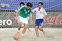 (L-R) Jose Cervantes (MEX), Masayuki Komaki (JPN), SEPTEMBER 02, 2011 - Beach Soccer : FIFA Beach Soccer World Cup Ravenna-Italy 2011 Group D match between Japan 2-3 Mexico at Stadio del Mare, Marina di Ravenna, Italy, (Photo by Enrico Calderoni/AFLO SPORT) [0391]