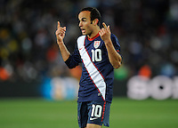 Landon Donovan of USA shows his frustration